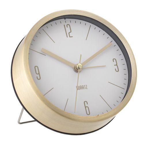 Stolní hodiny Aluminium Gold