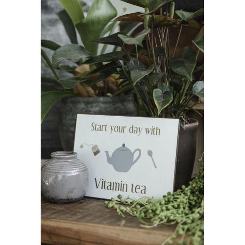 Plechová cedule Vitamin Tea