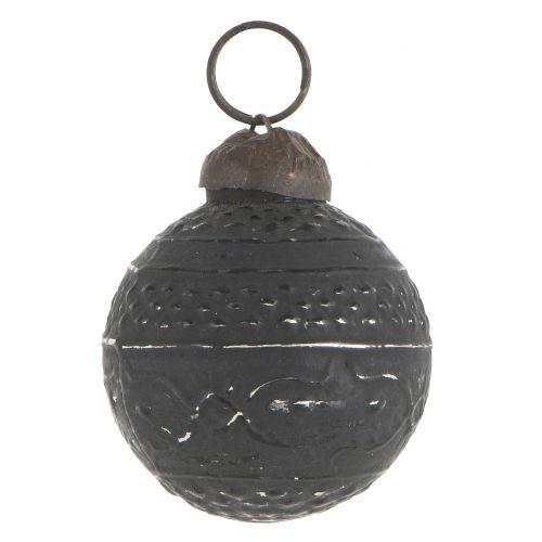 Vánoční mini ozdoba Black pattern
