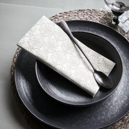 Papírové ubrousky Baroque Grey/Brown