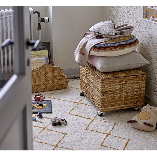 Bavlněný koberec Yellow Ornament 200×140 cm