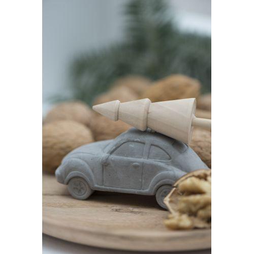 Betonové autíčko se stromkem Christmas
