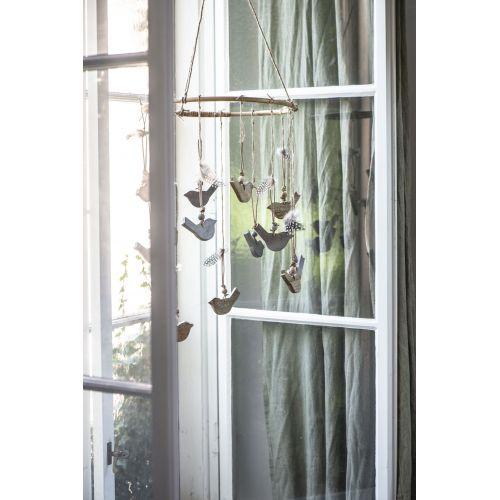 Závěsná dekorace Bird Grey