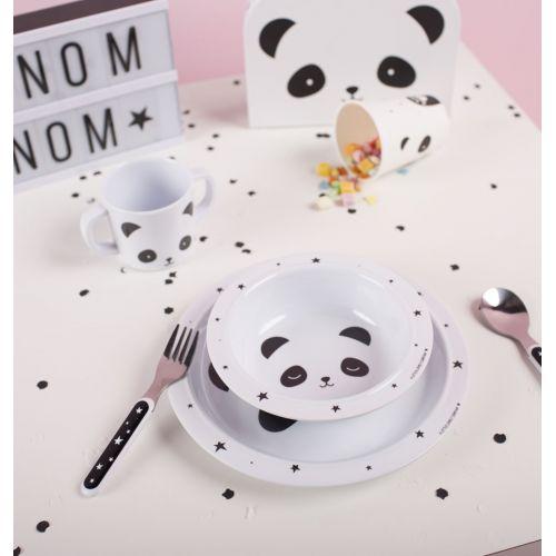 Set dětského melaminového nádobí Panda