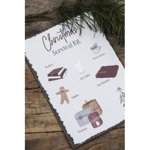Plechová cedule Christmas Survival Kit