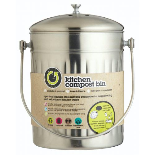 Nerezový kbelík na kompost 5 l