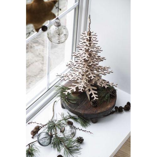 Vánoční baňka Pebbled Glass Smoke 8cm
