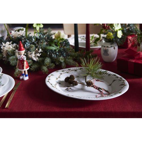 Oválný talíř Hammershøi Christmas 27×34 cm