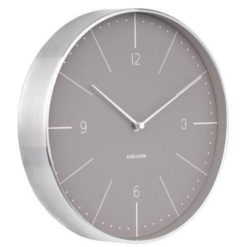 Nástěnné hodiny Normann Warm Grey