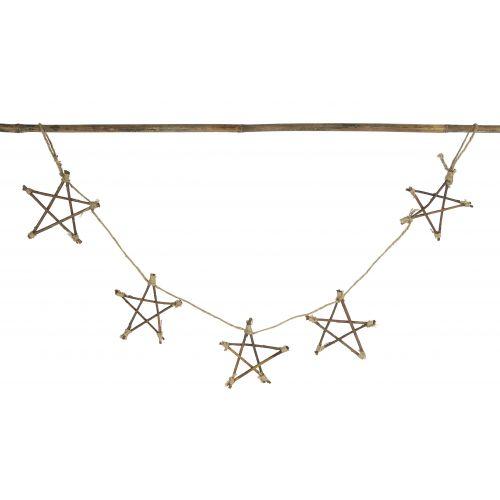 Girlanda s dřevěnými hvězdičkami Stars