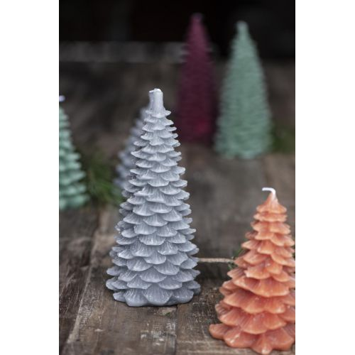 Vánoční svíčka Christmas Tree Grey 20 cm