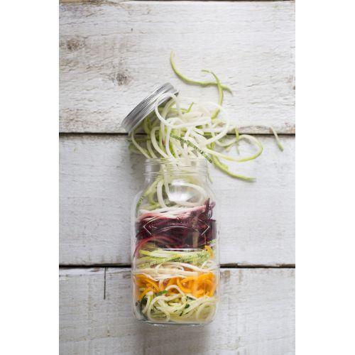 Sklenice s nástavcem na výrobu zeleninových špaget