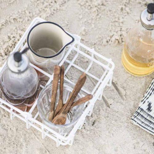 Kovový košík na olej a ocet White