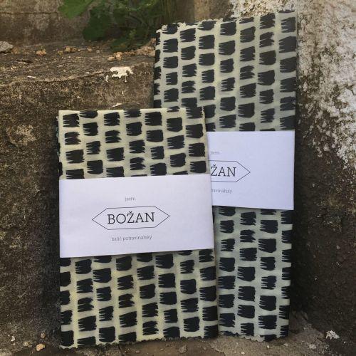 Voskovaný ubrousek Černobílý 40 X 40 cm