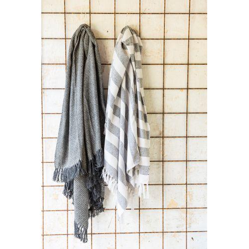Bavlněný přehoz Black Stripes 130x160 cm