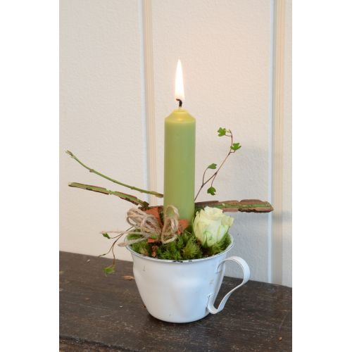 Svíčka zelená - set 6 ks