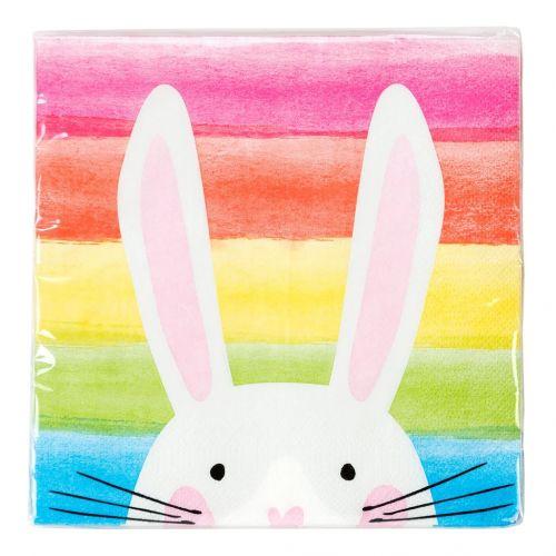 Velikonoční ubrousky Hop Over The Rainbow Bunny