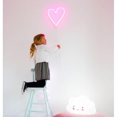 Neonové LED světlo Heart Pink