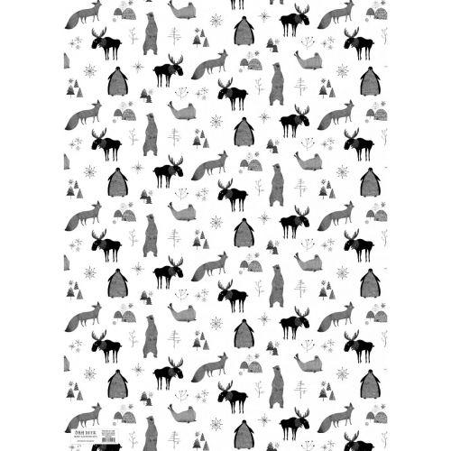 Balící papír Christmas Animals 50x70 cm