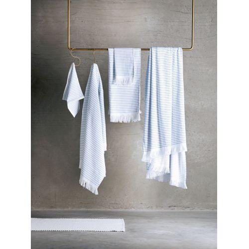 Pruhovaný ručník Pinstripe Blue 30x50 cm