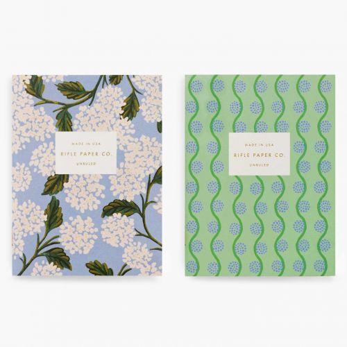 Kapesní zápisník Hydrangea Pocket - set 2 ks