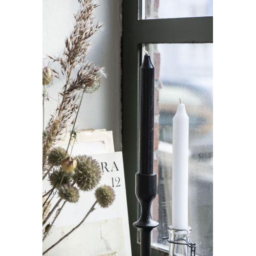 Vysoká svíčka Rustic White 18cm - set 3ks