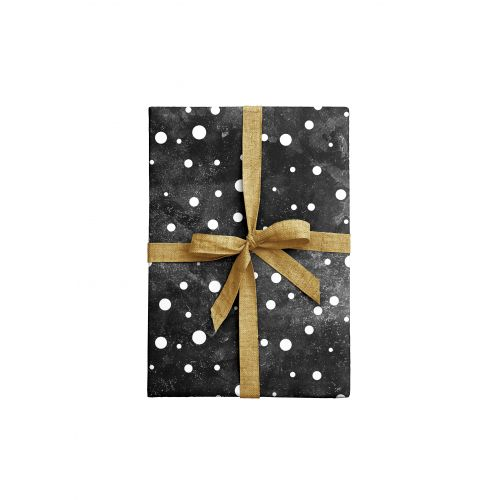 Balicí papír Dots Black - 2 listy