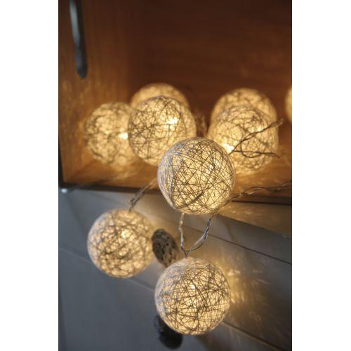 Světelný lampionový řetěz Jolly White
