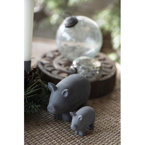 Vánoční prasátko Grey větší