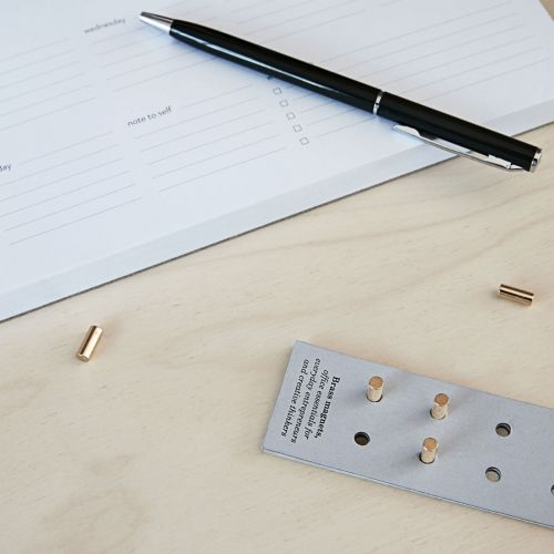 Mini magnety Neo Brass - sada 10 ks