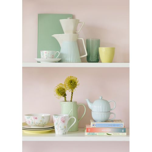Čajová konvička s hrnečkem Alice Pale blue