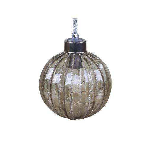 Skleněná baňka s LED drátkem Mocca 8 cm