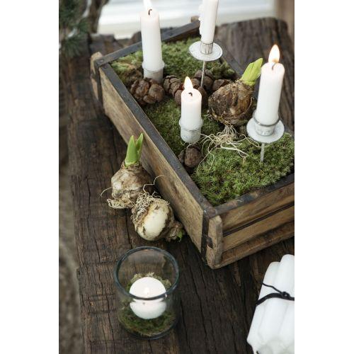 Zapichovací svícen na klasickou svíčku White