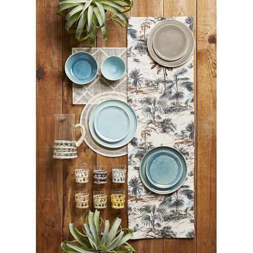 Keramický dezertní talíř Ingrid Blue ⌀ 21 cm