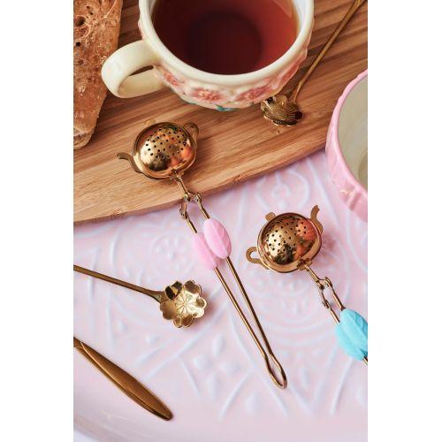 Zlatá nerezová lžička Sakura Flower Gold - set 2 ks