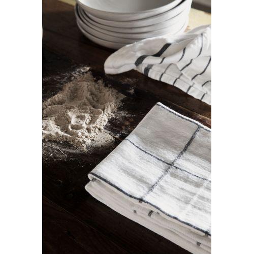 Utěrka z bavlny a lnu Nila White