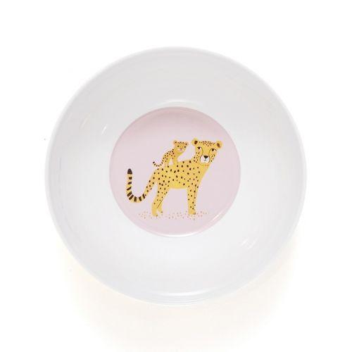 Dětská melaminová miska Leopard Yellow