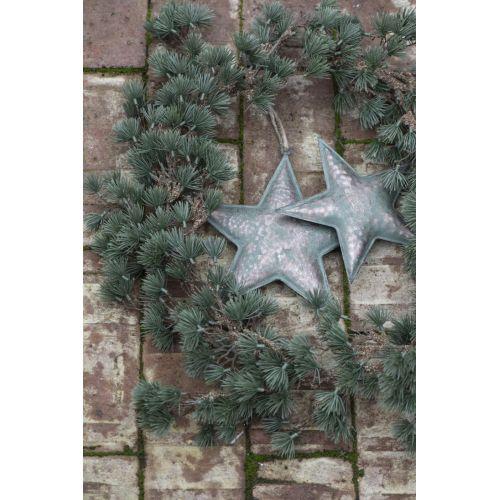 Kovová závěsná hvězda Army Green 19 cm