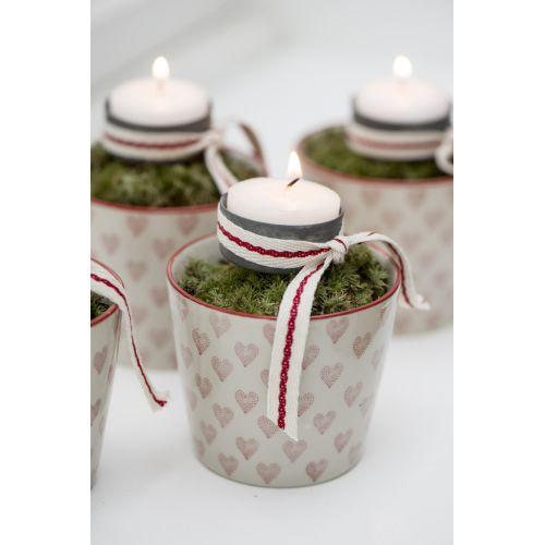 Černý zapichovací svícen na čajovou svíčku