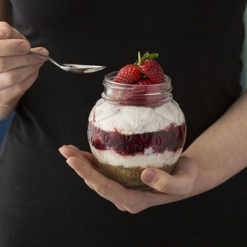 Sklenice na marmeládu Strawberry 0,4 l