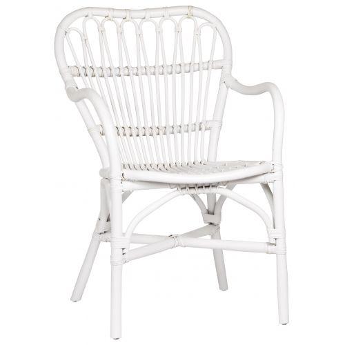Ratanová židle White