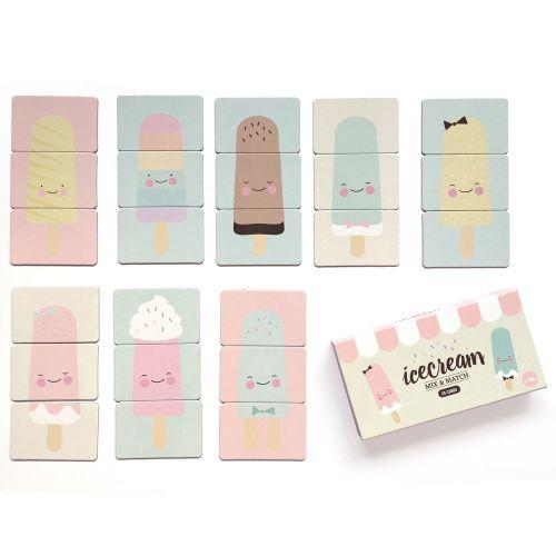 Hrací kartičky Mix & Match Ice Cream