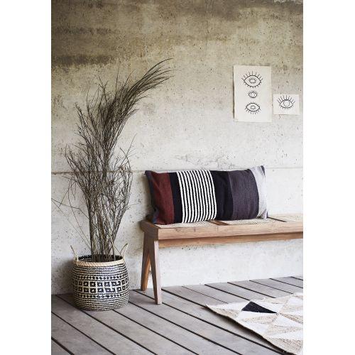 Povlak na polštář Grey/Black/Burgundy40x90