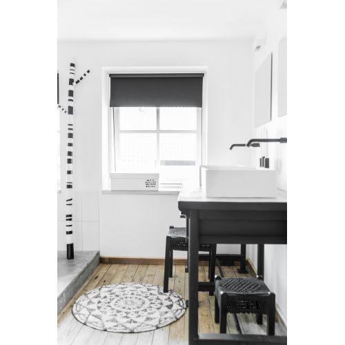 Koupelnová předložka Round Black 120cm