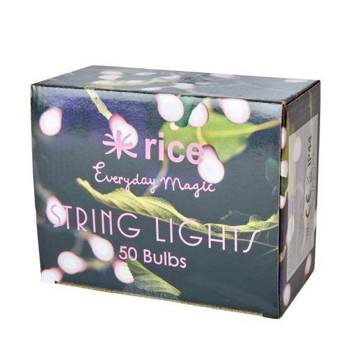 Venkovní světelný řetěz s 50-ti žárovkami Pink