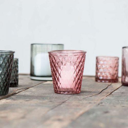 Skleněný svícen Malva glass