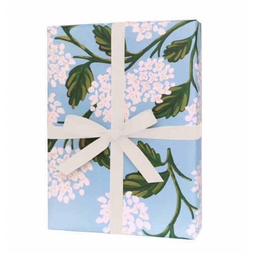 Balicí papír s květinami Hydrangea - 3 listy