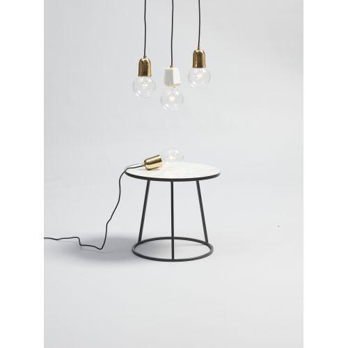 Závěsná mramorová lampa White