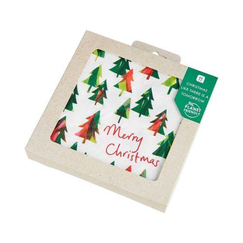 Ekologické vánoční papírové ubrousky Tree