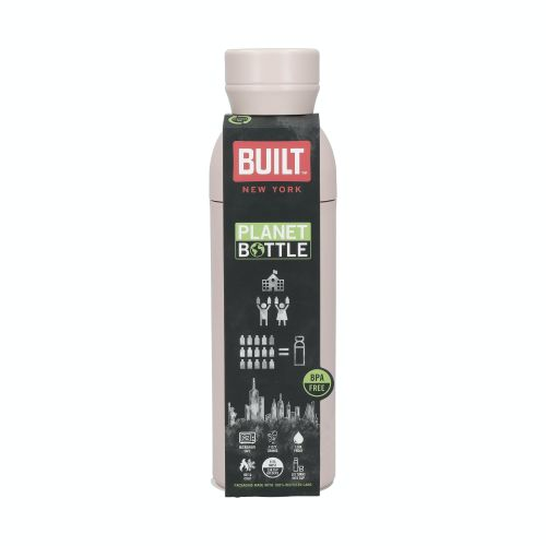 Recyklovaná lahev na vodu BUILT Pale Pink 500 ml
